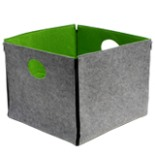 Aufbewahrungsbox DAY Filztasche apfelgrün - grau meliert