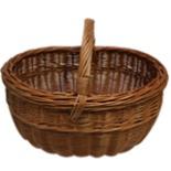 Einkaufskorb Weidenkorb Korbgeflecht Weide rund 43 cm