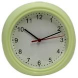 Wanduhr 22 cm DAY grün Uhr Wand Küchenuhr Bürouhr Quarzuhr