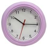 Wanduhr 22 cm DAY lila Uhr Wand Küchenuhr Bürouhr Quarzuhr