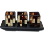 Kerzenständer Holzschiffchen Kerzenhalter Kerzenleuchter