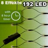 Lichternetz 1,8 m x 0,9 m batteriebetr. 192 LED warm weiß