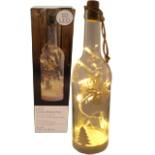 Dekoflasche mit 10 LED Lichterkette Weihnachtsmotive GOLD