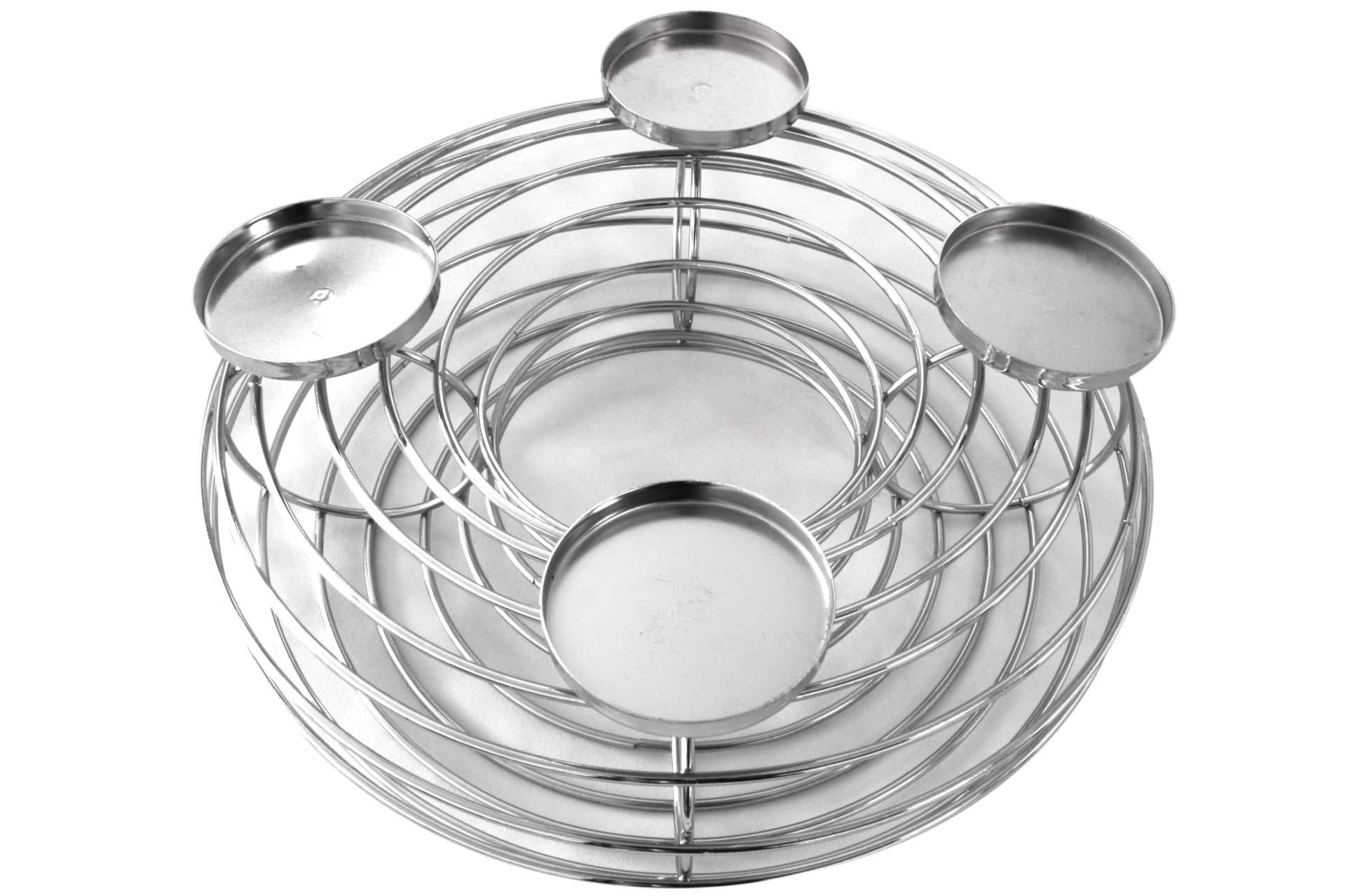 Deko adventskranz aus metall 34 cm mit 4 kerzenhalter kerze kranz advent neu eur 9 99 - Adventskranz aus metall dekorieren ...