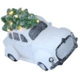 Deko Auto Oldtimer mit Tannenbaum & LED Beleuchtung