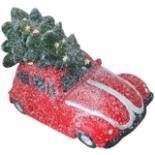 Deko Auto Oldtimer Käfer mit Tannenbaum & LED Beleuchtung
