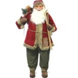 XXL Weihnachtsmann 151 cm X-mas Dekofigur Nikolaus