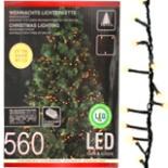 Lichterkette 560 LED 8 Funktionen innen u. außen Beleuchtung
