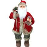 Dekofigur Weihnachtsmann 80 cm mit Geschenksack & Päckchen