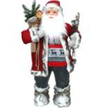 Dekofigur Weihnachtsmann 80 cm mit Geschenksack & Rute