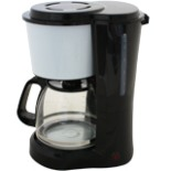 Kaffeemaschine DESKI 1,5L für 12 Tassen weiß schwarz 900 W