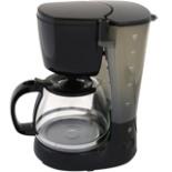 Kaffeemaschine COOK IT 750 Watt bis 10 Tassen 1,25L Schwarz