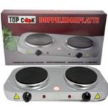 Doppelkochplatte TOP COOK 2000 Watt Doppel Kochplatte Herd