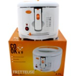 Fritteuse COOK 4 U 2000 Watt 2,5 Liter Weiß