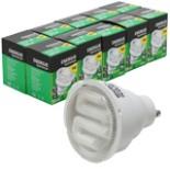 Energie Sparlampe GU10 9 Watt 10 Stück weiß Glühbirne