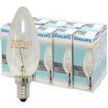 Glühbirnen PHILIPS Kerzen Lampe 40 Watt klar E14 10 Stück