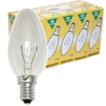 Glühbirne 10 Stück 40 Watt Kerzen Lampe E14 Kerzenbirne klar