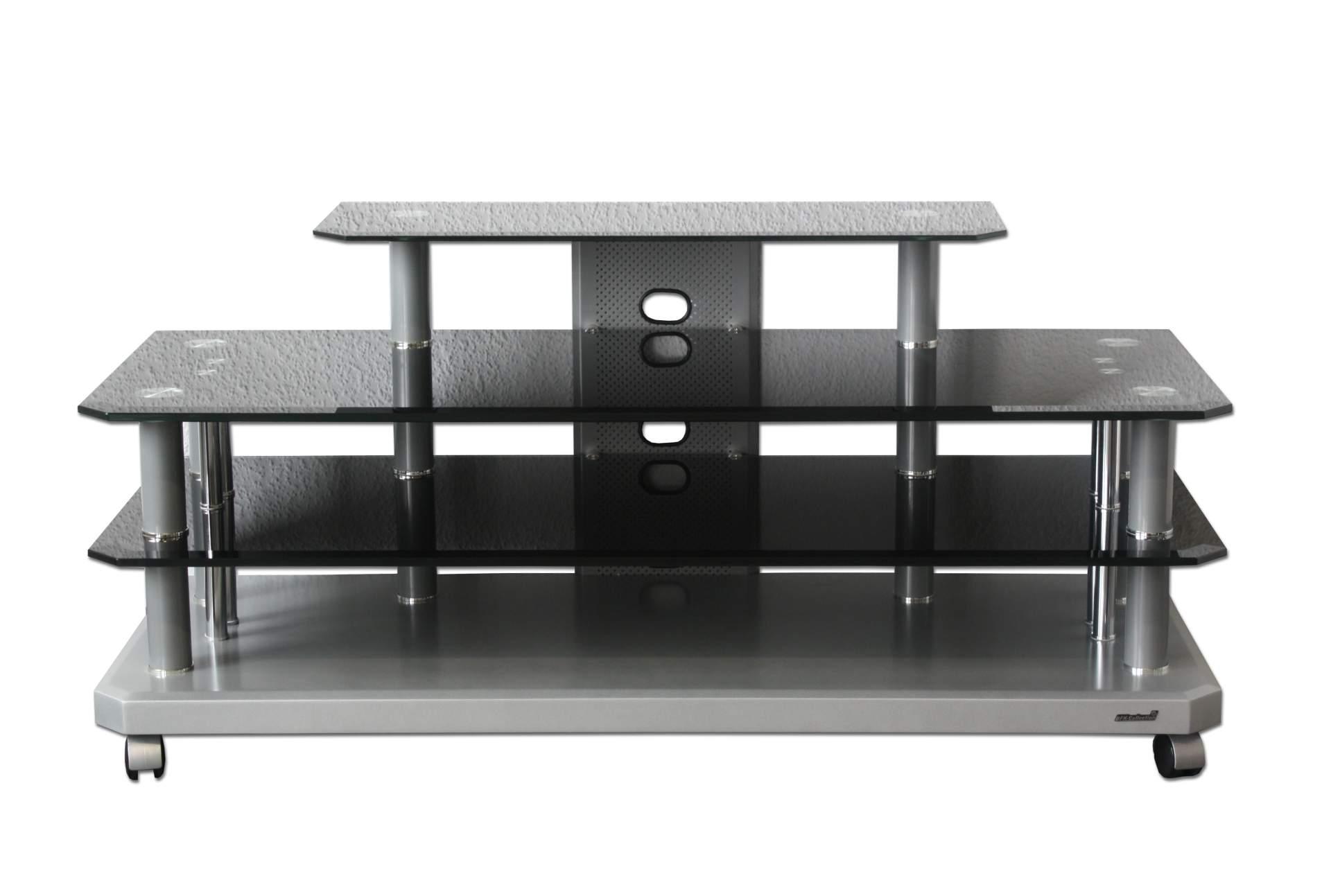 fernsehtisch glas pluto phono hifi audio ablage regal. Black Bedroom Furniture Sets. Home Design Ideas