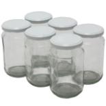 Einsiedeglas 370 ml mit Twist-off Deckel weiß 6er Set