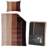 Bettwäsche Fleece 135 x 200 cm mit Reißverschluss Braun