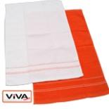Küchentücher 2er Set Geschirrtuch Trockentuch weiß orange