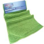Flauschige Homeline Badematte Wellness 50 x 80 cm Grün