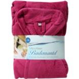 Bademantel Microfaser pink L/XL Morgenmantel Wellness