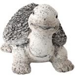 Deko Gartenfigur Schildkröte 35 cm Handarbeit Steinoptik