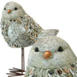 Deko Gartenfigur Vogel Spatz 30,5 cm Handarbeit Steinoptik