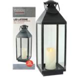 LED Laterne mit flackernder Kerze 6 Std Timerfunktion 60 cm