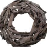 Deko Natur- Holzkranz Kiefer und Zedernholz 47cm Ø Dekokranz