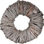 Deko Holzkranz Türkranz 50 cm Baumrinde Kranz weiß gekalkt