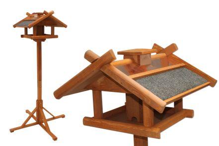 kupferdach vogelhaus braun 1 55 meter futtersilo und stand fuss futter station 4036812720351 ebay. Black Bedroom Furniture Sets. Home Design Ideas