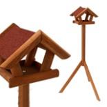 Vogelhaus mit Ständer Kiefer Holz 120 cm Standfuß Vogelhaus