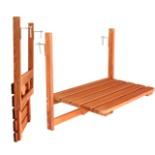 Balkontisch Holz klappbar 63 x 40 cm Hängetisch platzsparend