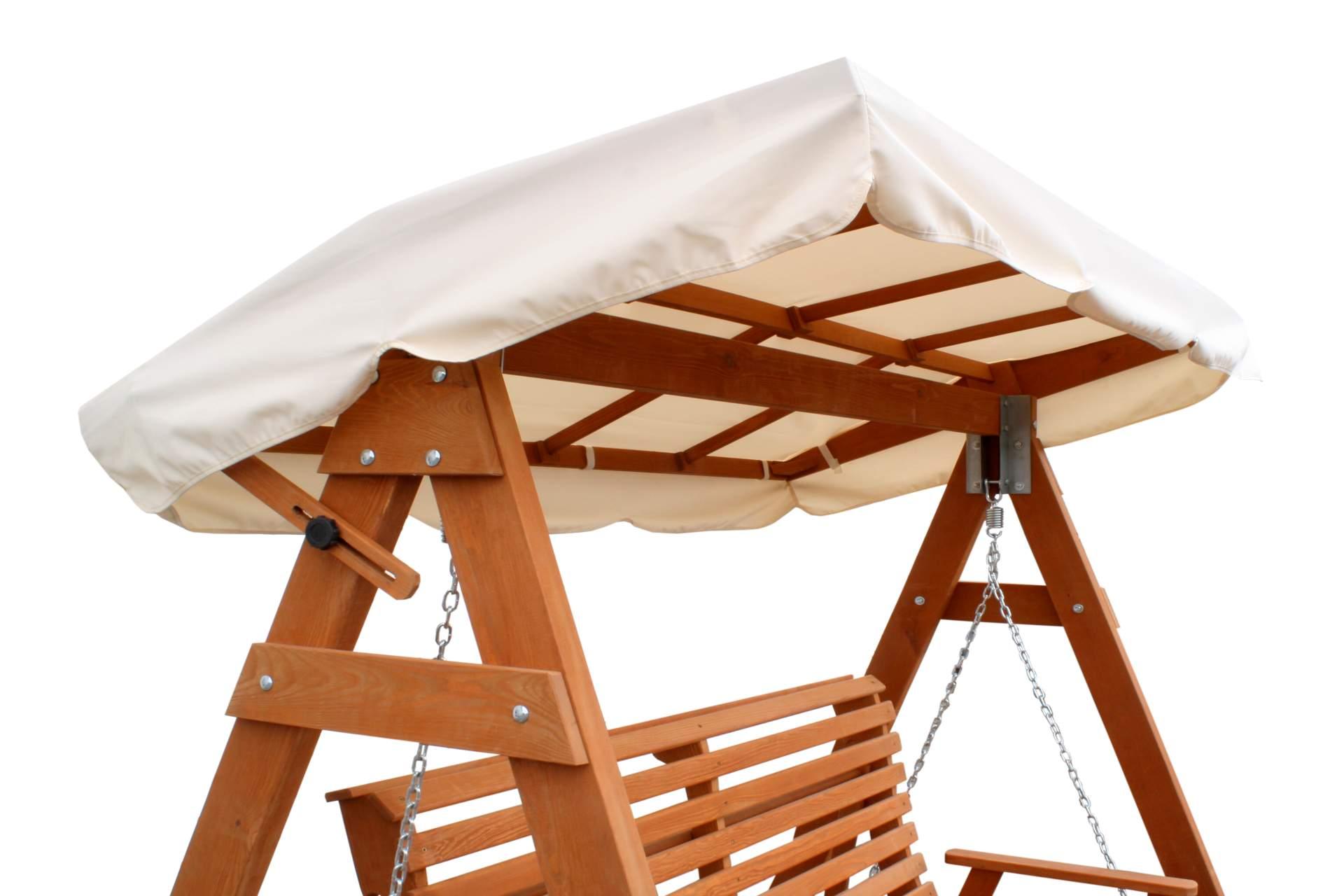 hollywoodschaukel ersatzdach f r holz schaukel 110 x 187 cm. Black Bedroom Furniture Sets. Home Design Ideas