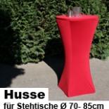 Husse für Stehtisch Ø 70-85 cm Stretch in rot Höhe 115 cm