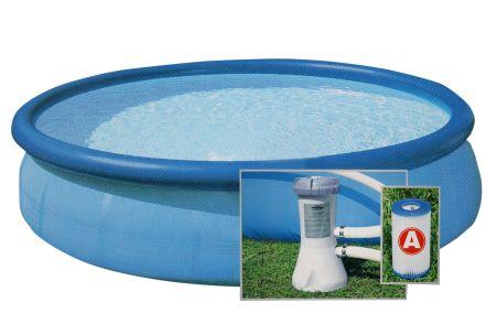 Intex pool set easy 366 x 76 cm mit filterpumpe und dvd for Intex gartenpool