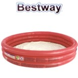 BESTWAY Planschbecken 3 Ring rot Kinder Baby Pool 122x25 cm