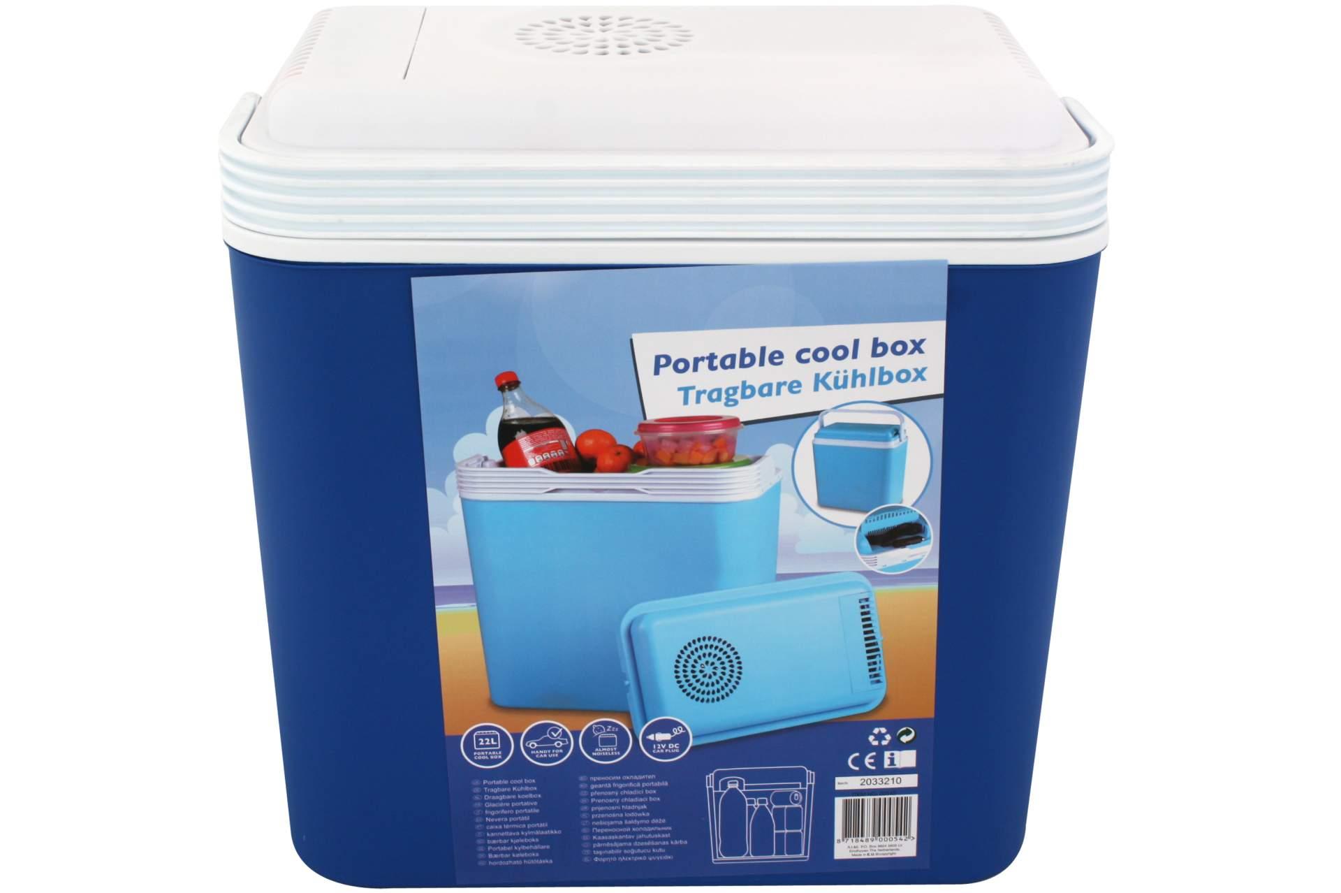 k hlbox 22 liter 12 volt blau auto camping picknick k hl box. Black Bedroom Furniture Sets. Home Design Ideas