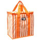 Kühltasche orange weiss gestreift 16 Liter 36x16,5x34 cm