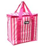 Kühltasche pink weiss gestreift 16 Liter 36x16,5x34 cm