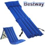 Campingsessel Luftmatratze Sessel 159 x 53 x 14cm blau/beige