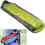 Schlafsack Camping Mumienschlafsack grün grau 220 x 80 x 55