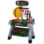 Kinder Spielzeug Werkbank inkl. 11 Werkzeuge und Zubehör