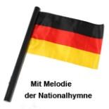 Fahne Deutschland mit Musik Nationalhymne batteriebetrieben