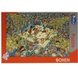 Puzzle MOCA BOXEN 336 Teile Comic Sportpuzzle Boxring