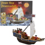 Piratenschiff Kinder Piraten Eddy Toys mit Kanone & Schatz