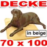 Hundedecke 70 x 100 beige Heim Tier Decke Hunde Katze Kissen