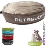 Katzenkissen Pet & Joy taupe rund 60 x 10 cm Tierbett Kissen